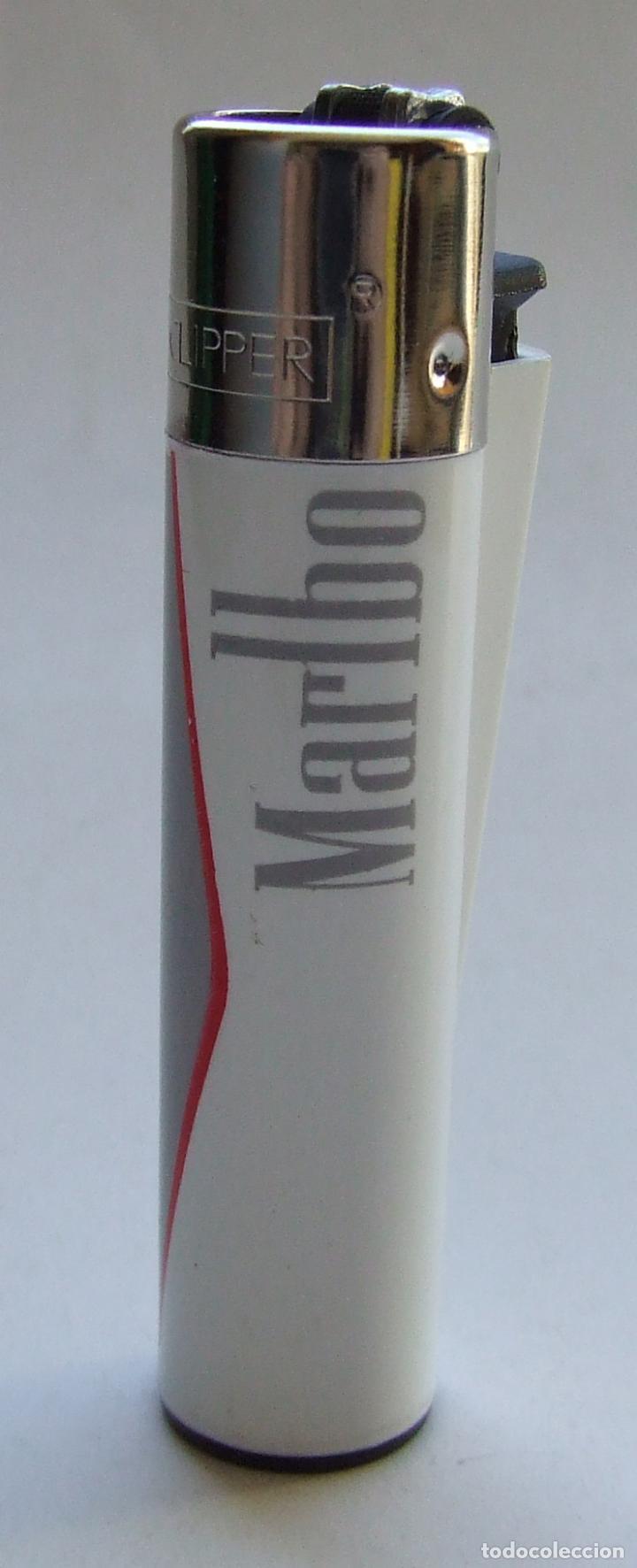 MECHERO ENCENDEDOR CLIPPER PUBLICIDAD MARLBORO NUEVO (Coleccionismo - Objetos para Fumar - Mecheros)