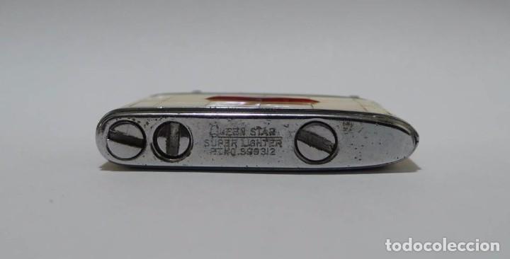 Mecheros: Mechero de gasolina metal cromado y forrado de nácar Queenstar - Foto 4 - 88089212