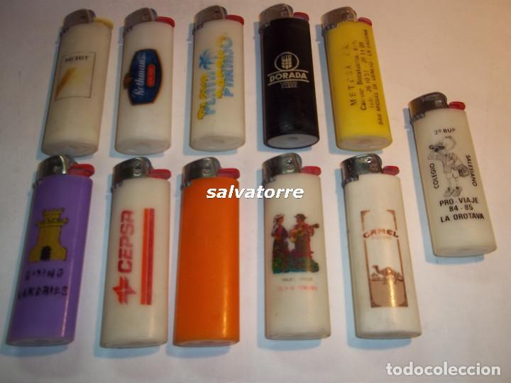 11 MECHEROS BIC. REGULABLES.MADE IN SPAIN.USADOS.SIN PIEDRA NI GAS.MECHERO (Coleccionismo - Objetos para Fumar - Mecheros)