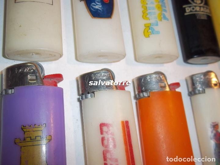 Mecheros: 11 MECHEROS BIC. REGULABLES.MADE IN SPAIN.USADOS.SIN PIEDRA NI GAS.MECHERO - Foto 2 - 91668250