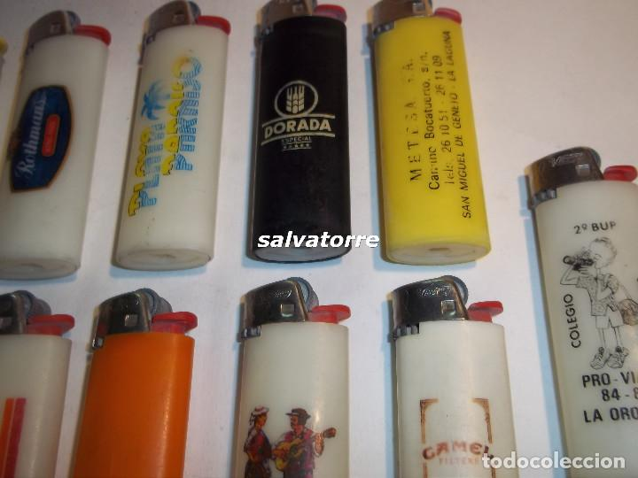 Mecheros: 11 MECHEROS BIC. REGULABLES.MADE IN SPAIN.USADOS.SIN PIEDRA NI GAS.MECHERO - Foto 3 - 91668250