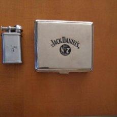 Mecheros: LOTE DE PITILLERA Y MECHERO JACK DANIEL'S. Lote 92723090