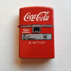 Mecheros: ANTIGUO MECHERO METALICO - COCA COLA - NO FUNCIONA. Lote 95559407