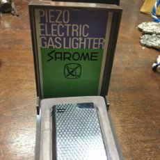 Mecheros: MECHERO PIEZO ELECTRIC GAS LIGHTER SAROME CON CAJA ORIGINAL. Lote 95962479