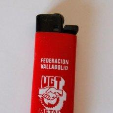 Mecheros: MECHERO - ENCENDEDOR - ZOR - SIN PIEDRA, CON CARGA DE GAS - MUY BUEN ESTADO - UGT METAL VALLADOLID. Lote 97443427