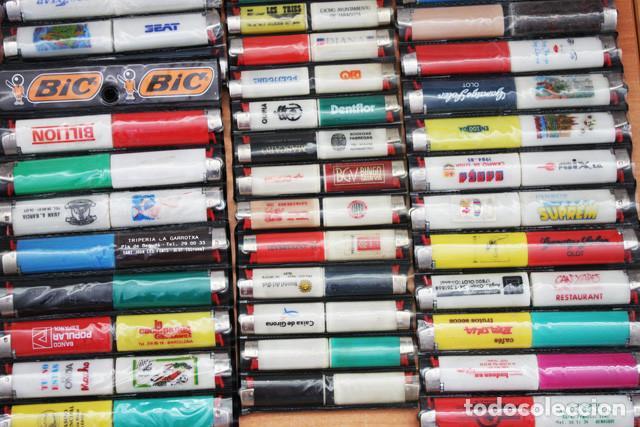 Mecheros: LOTE 226 MECHEROS CASI TODOS BIC, MINI BIC Y ZOR,TABACO,PUBLICIDAD,FUTBOL,SE INCLUYEN EXPOSITORES - Foto 4 - 97942303
