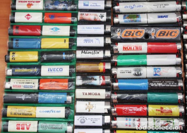 Mecheros: LOTE 226 MECHEROS CASI TODOS BIC, MINI BIC Y ZOR,TABACO,PUBLICIDAD,FUTBOL,SE INCLUYEN EXPOSITORES - Foto 5 - 97942303