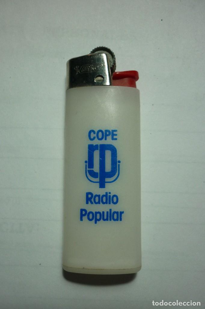 COPE. RADIO POPULAR. MECHERO BIC PEQUEÑO. MADE IN SPAIN. IDEAL COLECCIONISTAS. (Coleccionismos - Mecheros)