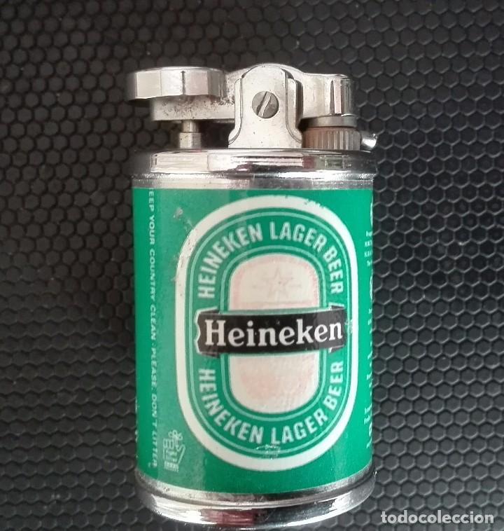 Mecheros: Curioso mechero encendedor heineken pequeño forma de lata - Foto 2 - 102105639