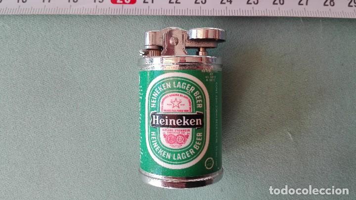 Mecheros: Curioso mechero encendedor heineken pequeño forma de lata - Foto 3 - 102105639