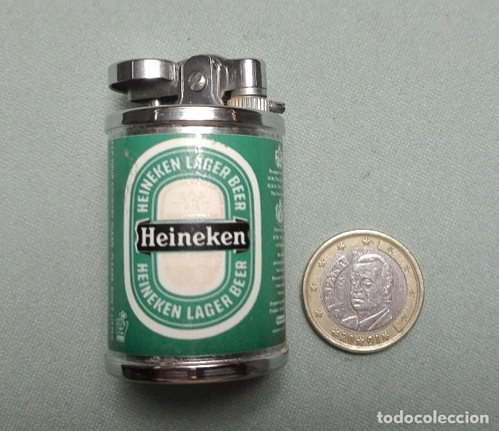 Mecheros: Curioso mechero encendedor heineken pequeño forma de lata - Foto 5 - 102105639