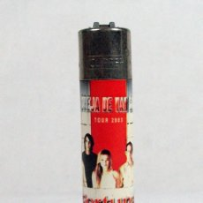Mecheros: ANTIGUO MECHERO CLIPPER . PUBLICIDAD TABACO FORTUNA. LA OREJA DE VAN GOGH. TOUR 2003. MUSICA. Lote 103140611