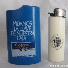 Mecheros: MECHERO BIC CON TABLE CAJASUR CAJA DE AHORROS DE JEREZ. Lote 104706131