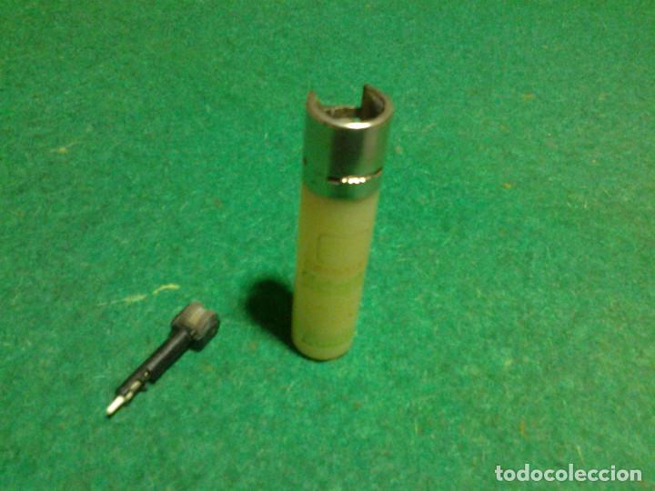 Mecheros: Encendedor mechero CLIPPER regulable rascador redondo ESTRELLA GALICIA funcionando - Foto 2 - 106329415