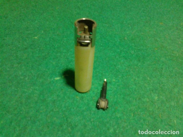 Mecheros: Encendedor mechero CLIPPER regulable rascador redondo ESTRELLA GALICIA funcionando - Foto 5 - 106329415