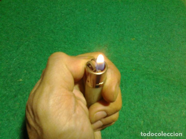 Mecheros: Encendedor mechero CLIPPER regulable rascador redondo ESTRELLA GALICIA funcionando - Foto 8 - 106329415