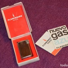 Mecheros: VINTAGE - ANTIGUO MECHERO - FLAMINAIRE PARIS - FLAMAGAS BARCELONA - PRECIOSO - CAJA ORIGINAL. Lote 107450295