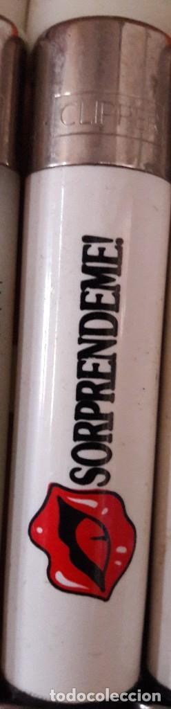 MECHERO, ENCENDEDOR CLIPPER, CON PUBLICIDAD, SORPRÉNDEME !. (Coleccionismo - Objetos para Fumar - Mecheros)