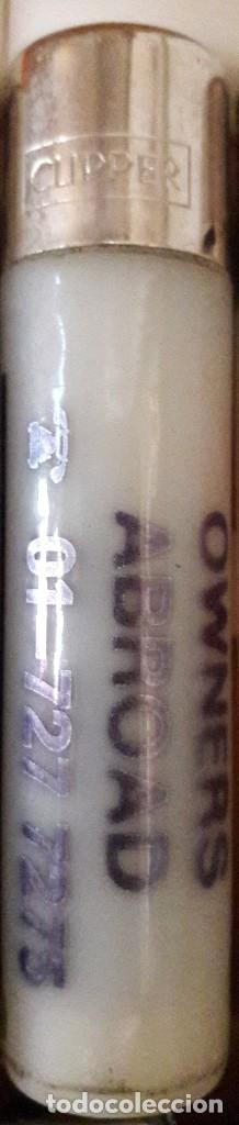 MECHERO, ENCENDEDOR CLIPPER, CON PUBLICIDAD OWNERS ABROAD. (Coleccionismo - Objetos para Fumar - Mecheros)