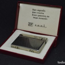 Mecheros: VINTAGE - ANTIGUO ENCENDEDOR RONI - DE GASOLINA - EN CAJA ORIGINAL - MADE IN GERMANY - PERFECTO. Lote 118944011