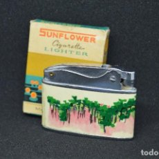 Mecheros: VINTAGE - ANTIGUO ENCENDEDOR / MECHERO ASIÁTICO - SUNFLOWER - PRECIOSO - EN CAJA ORIGINAL. Lote 118944119