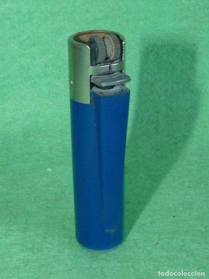 Mecheros: Buscado mechero Clipper regulador azul oscuro grisaceo opaco rascador redondo encendedor vintage - Foto 2 - 119516523