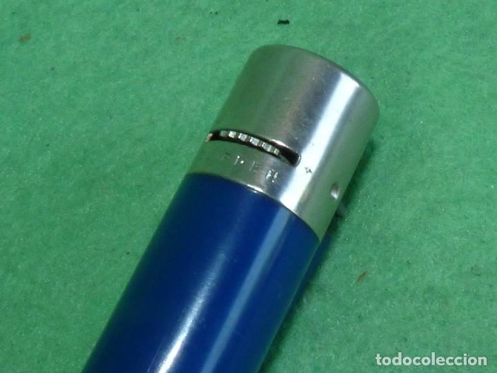 Mecheros: Buscado mechero Clipper regulador azul oscuro grisaceo opaco rascador redondo encendedor vintage - Foto 4 - 119516523