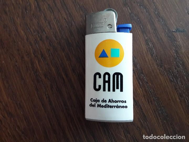 MECHERO, ENCENDEDOR DE PUBLICIDAD CLIPPER, CAM, CAJA AHORROS DEL MEDITERRÁNEO. (Coleccionismo - Objetos para Fumar - Mecheros)