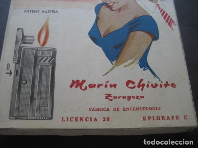 Mecheros: ANTIGUA CAJA CARTON MECHEROS OPAL KARAT. FABRICA ENCENDEDORES MARIN CHIVITE ZARAGOZA - Foto 3 - 120152815