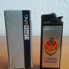 Mecheros: ENCENDEDOR CLIPPER KING POLICIA NACIONAL 41 BANDERA BARCELONA - FLAMAGAS SA CNP. Lote 126004054