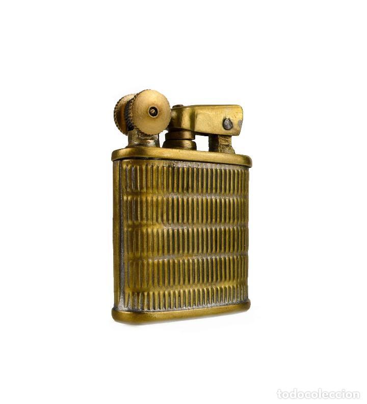 Mecheros: Mechero gasolina metal dorado brazo elevador - años 30-40 - Foto 5 - 127264279