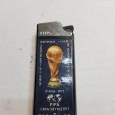Mecheros: MECHERO CLIPPER KING REGULABLE PUBLICIDAD FIFA ESPAÑA 82. Lote 129291144