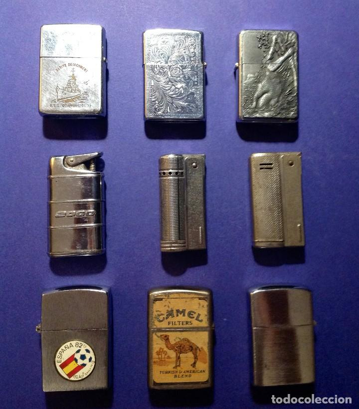 COLECCIÓN LOTE MECHEROS NUEVE (Coleccionismo - Objetos para Fumar - Mecheros)