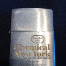 Mecheros: ZIPPO AMERICANO 7 BARRAS CHEMICAL BANK GRABADO RELIEVE. Lote 134925750