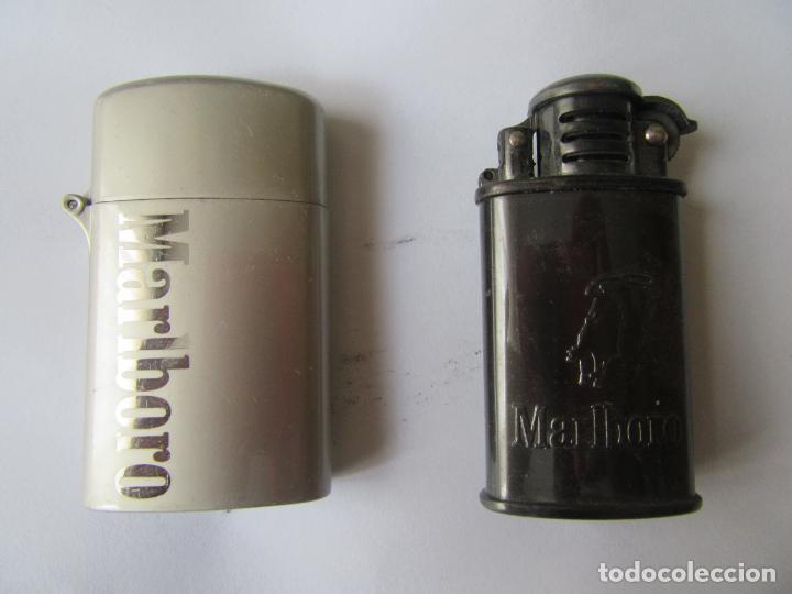 2 MECHEROS PUBLICIDAD TABACO MALBORO (Coleccionismo - Objetos para Fumar - Mecheros)
