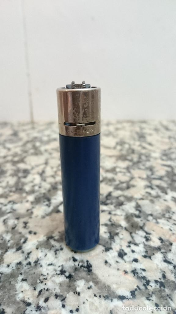 MECHERO CLIPPER REGULABLE 2 DIENTES RASCADOR REDONDO (Coleccionismo - Objetos para Fumar - Mecheros)