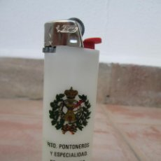 Mecheros: ANTIGUO MECHERO BIC REGULABLE CON PUBLICIDAD MILITAR.. Lote 137849642