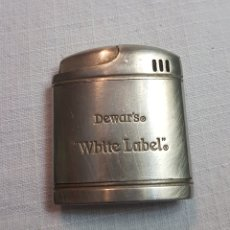 Mecheros: MECHERO METÁLICO PUBLICITARIO WHITE LABEL DEWAR'S. Lote 143548122