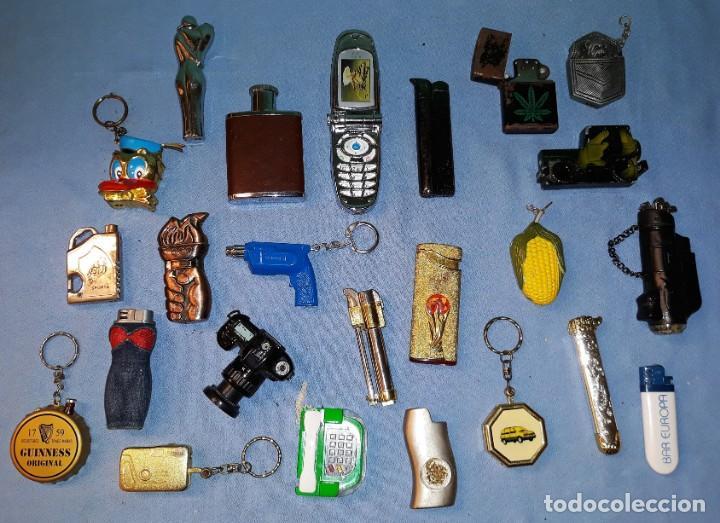 DESEMBALAJE GRAN LOTE DE MECHEROS DE FANTASIA DIFERENTES MARCAS VER FOTOS Y DESCRIPCION LOTE 2 (Coleccionismo - Objetos para Fumar - Mecheros)