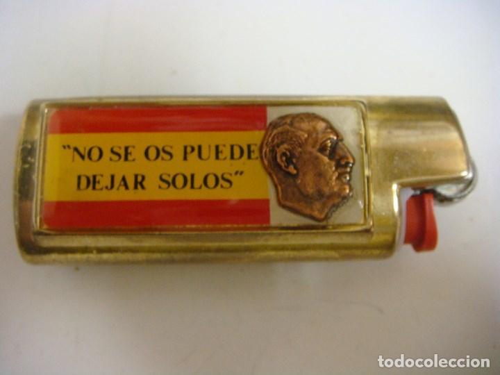 MECHERO Y FUNDA METALICA CON FRANCO-NO SE OS PUEDE DEJAR SOLOS (#) (Coleccionismo - Objetos para Fumar - Mecheros)