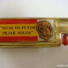 Isqueiros: MECHERO Y FUNDA METALICA CON FRANCO-NO SE OS PUEDE DEJAR SOLOS (#). Lote 145275234