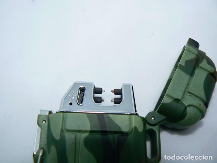 Mecheros: Ejército plasma encendedor eléctrico impermeable doble arco - Foto 5 - 147458178