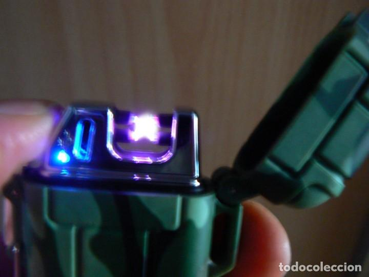 Mecheros: Ejército plasma encendedor eléctrico impermeable doble arco - Foto 2 - 147458178