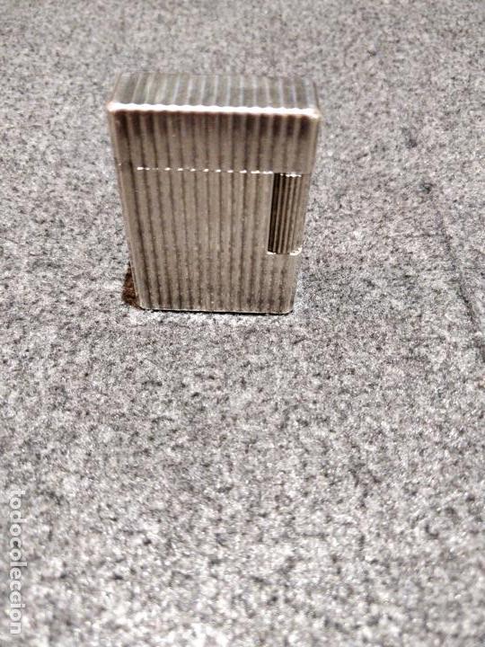 ENCENDEDOR DUPONT PARIS EN PLATA FUNCIONANDO (Coleccionismo - Objetos para Fumar - Mecheros)