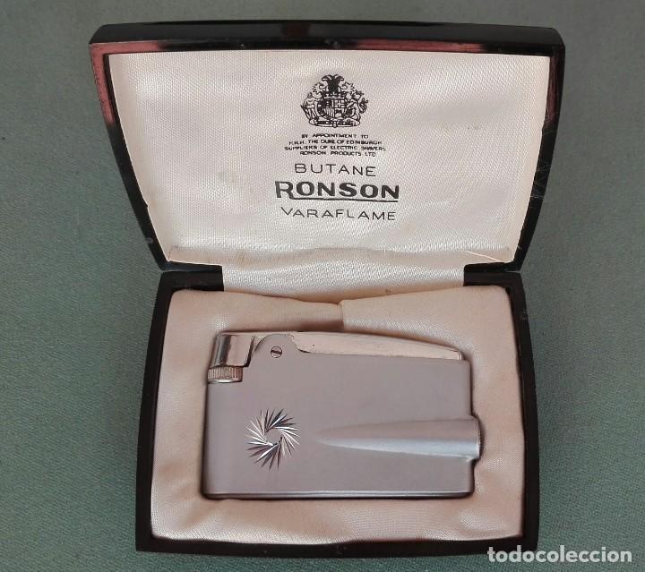 Mecheros: Mechero ronson varaflame butane con su caja - Foto 2 - 155687714
