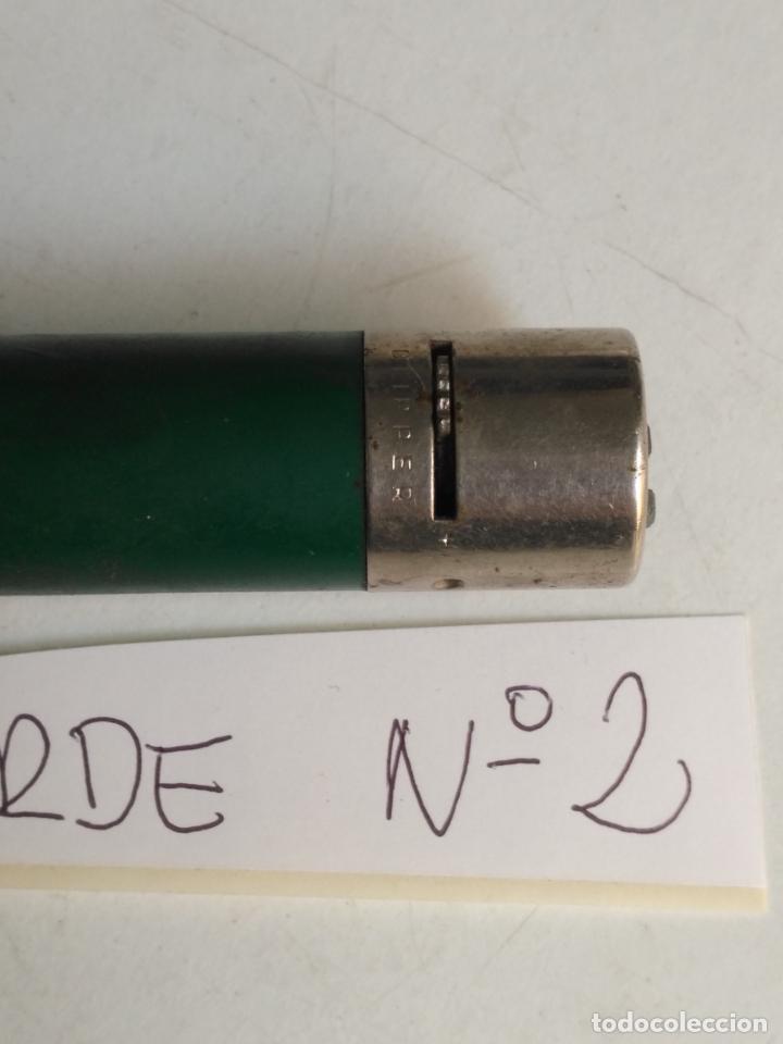 NUMERO 2 - MECHERO ENCENDEDOR CLIPER CLIPPER CON REGULADOR REGULABLE VERDE . RASCADOR REDONDO (Coleccionismo - Objetos para Fumar - Mecheros)