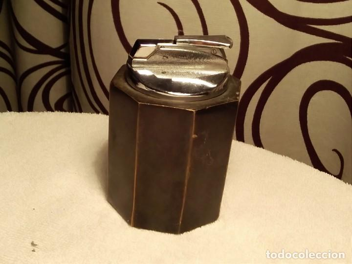 Mecheros: Mechero de mesa, de metal muy pesado 1.225 kg - Foto 2 - 156991146