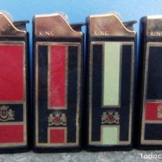 Mecheros: 4 CLIPPER KING.. Lote 157946802