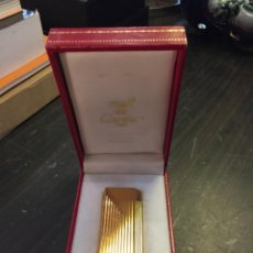 Mecheros: MECHERO/ENCENDEDOR A GAS CARTIER PLAQUE ORO. Lote 159743790