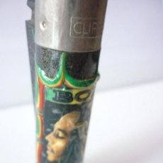 Mecheros: MECHERO CLIPPER BOB MARLEY, PERFIL, RELIEVE, RASCADOR REDONDO MADE IN SPAIN.. Lote 164829718